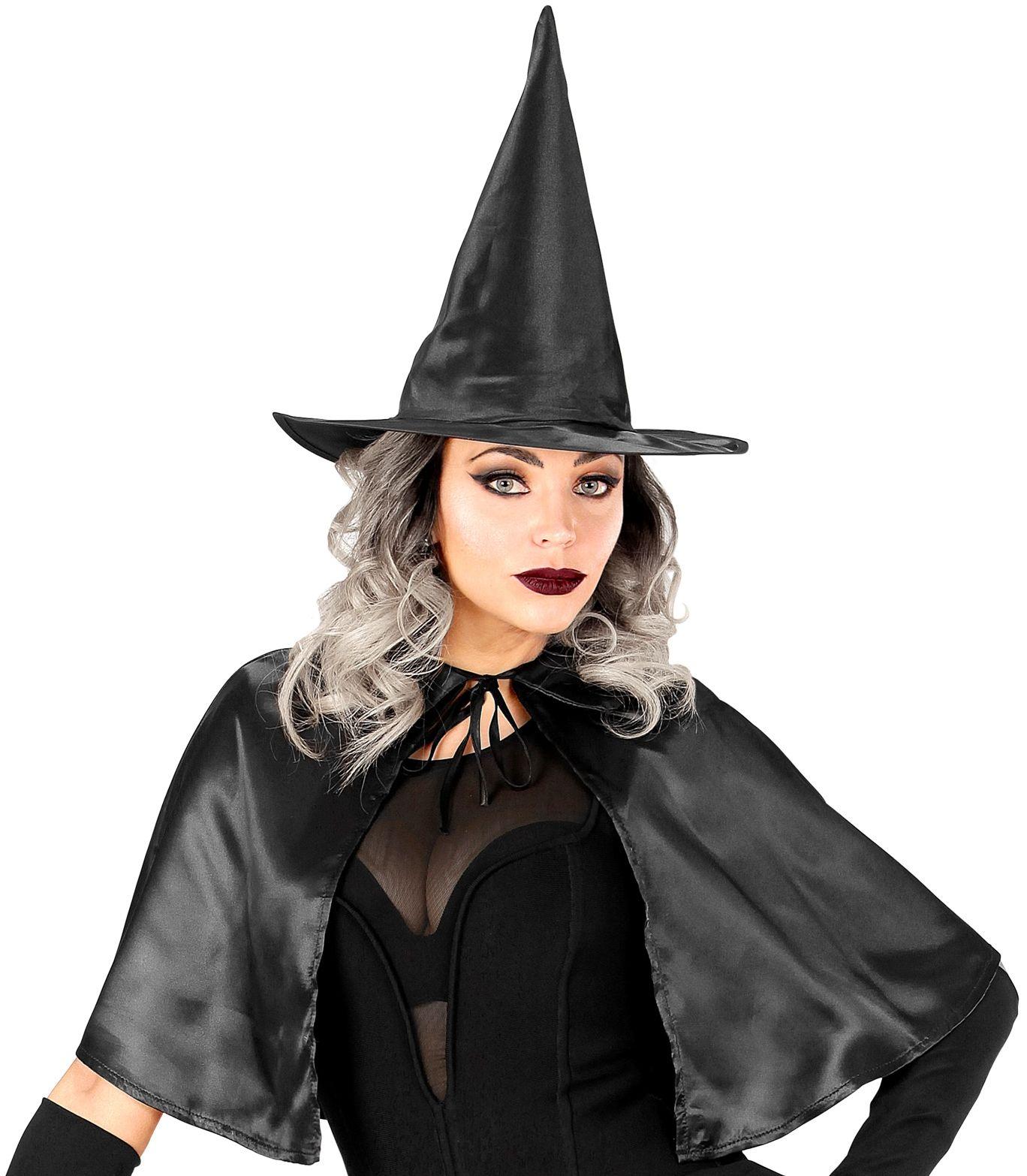 Heksen cape en hoed