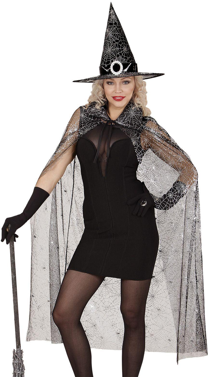 Heksen cape en hoed dames One-size-volwassenen
