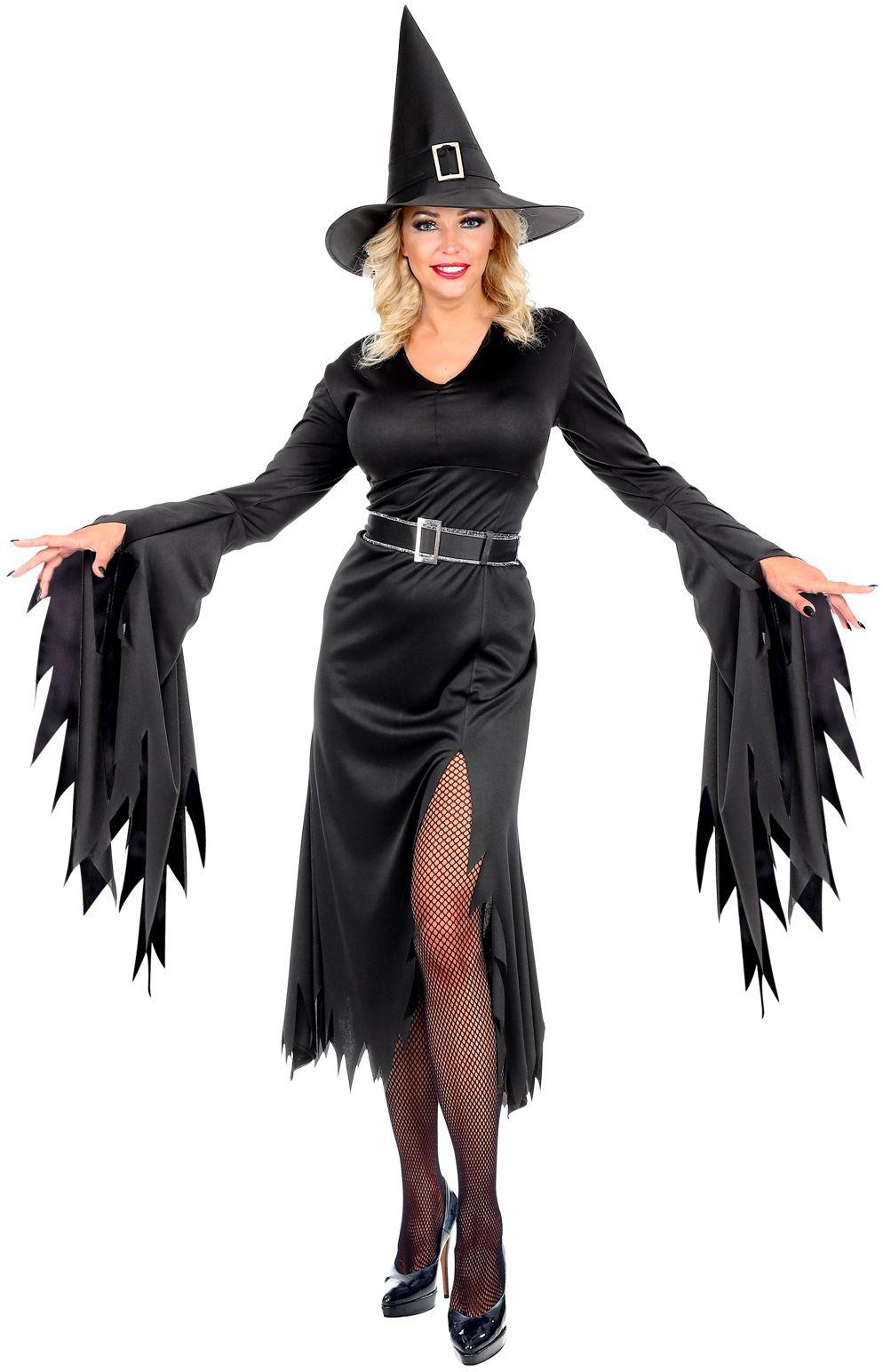 Heksen jurk dames lang