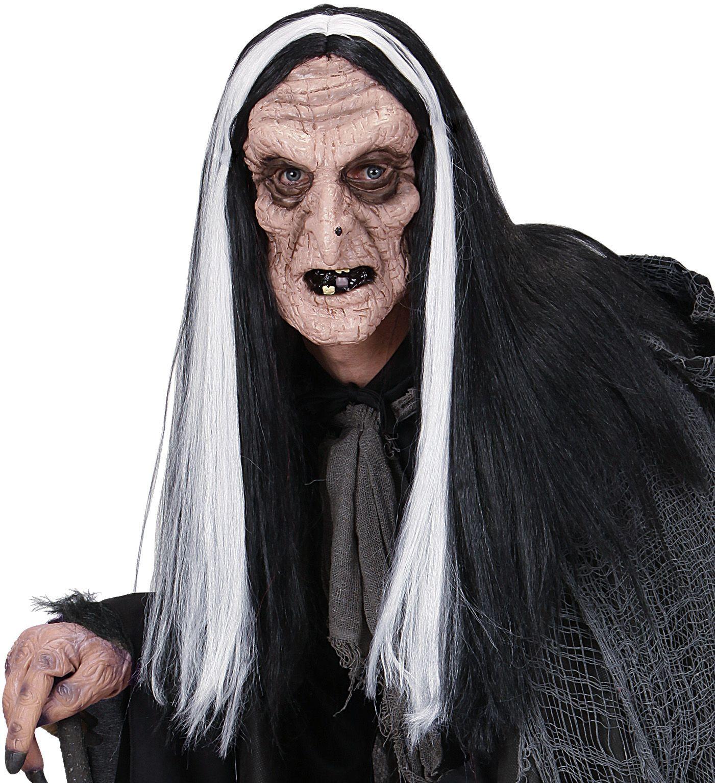 Heksen masker met pruik