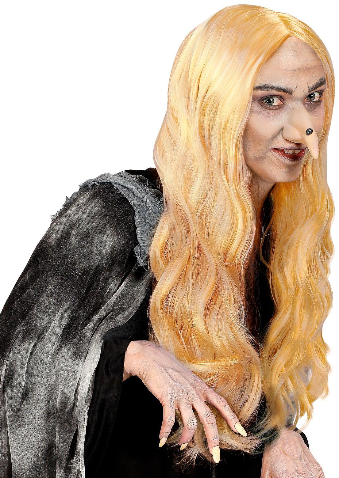 Heksen pruik blond