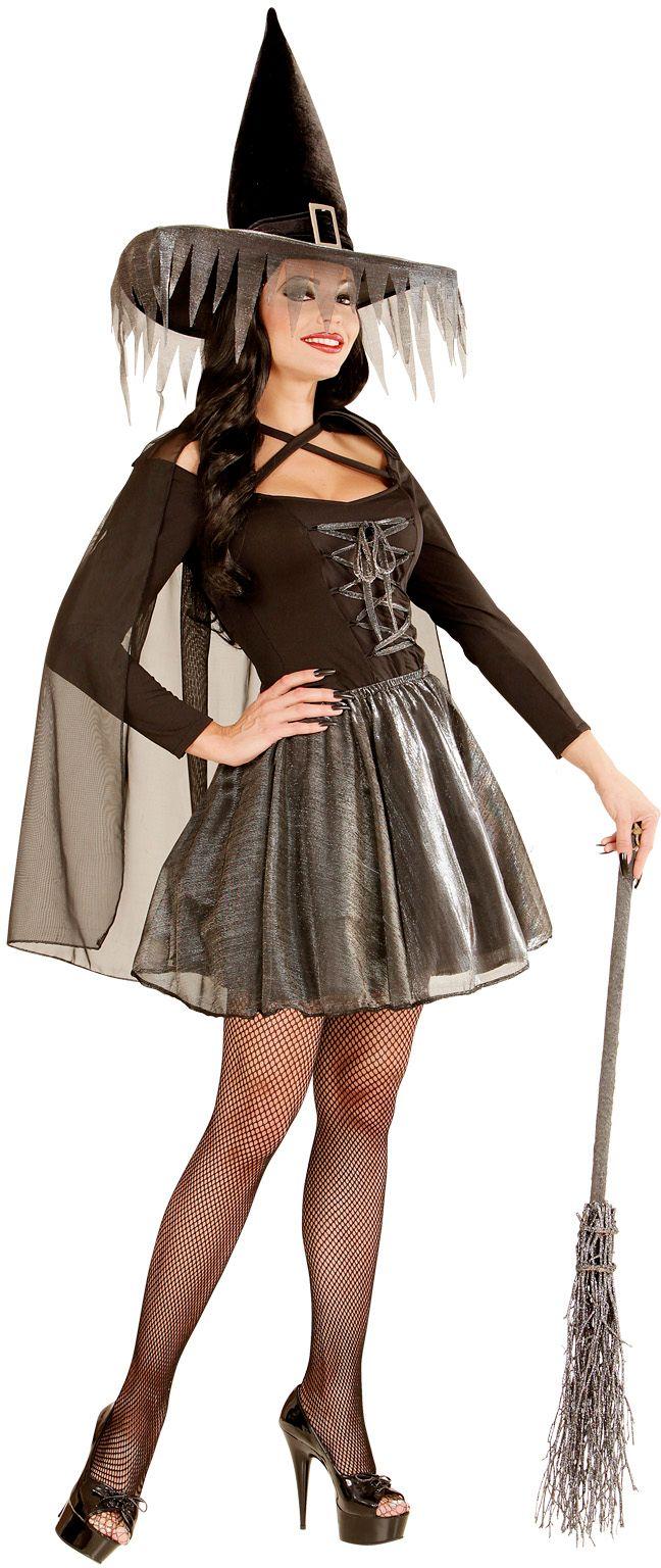 Heksenjurk dames zilver