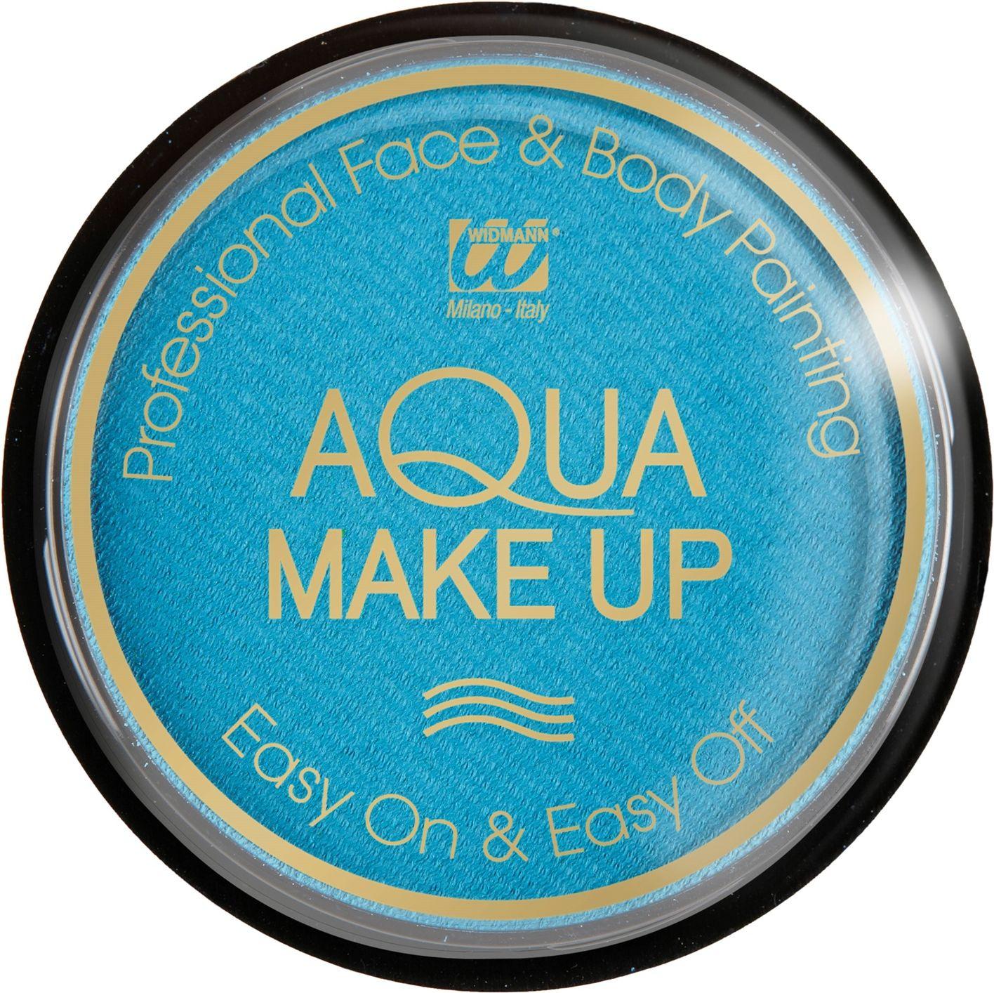 Hemelsblauwe waterbasis make-up