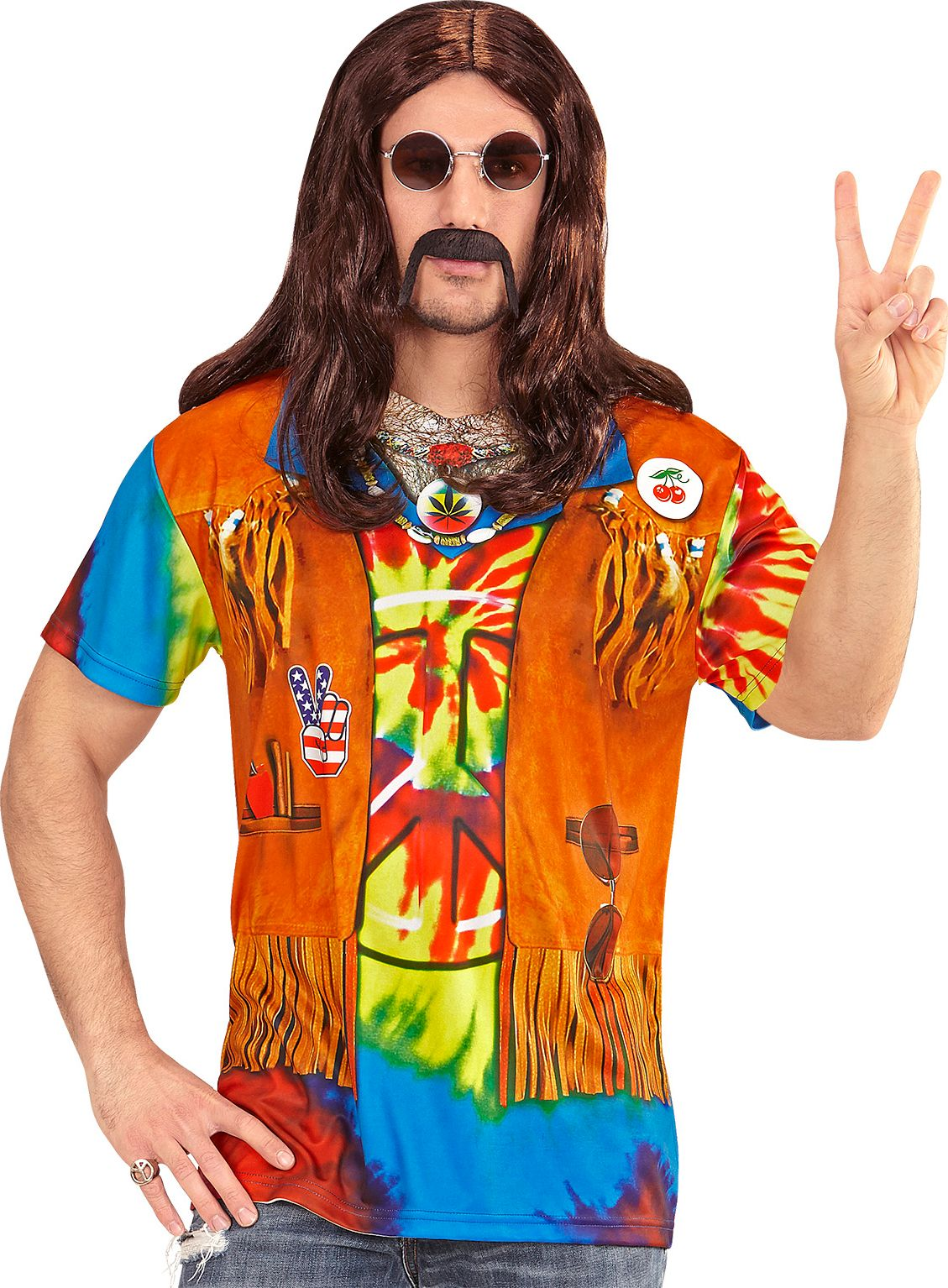 Heren hippie shirt