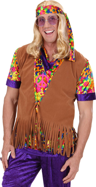Heren hippie vest met hoofdband