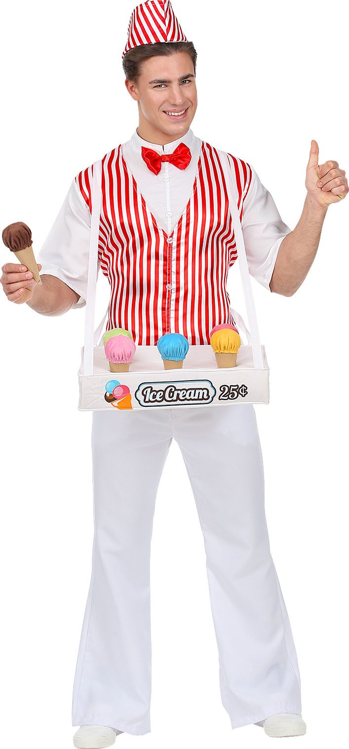 Heren kostuum ijsverkoper