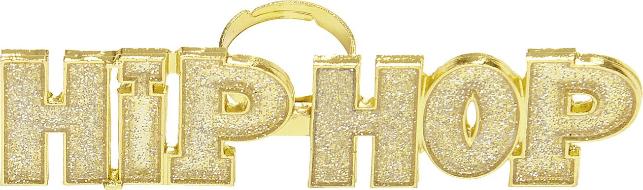 Hip Hop ring goud