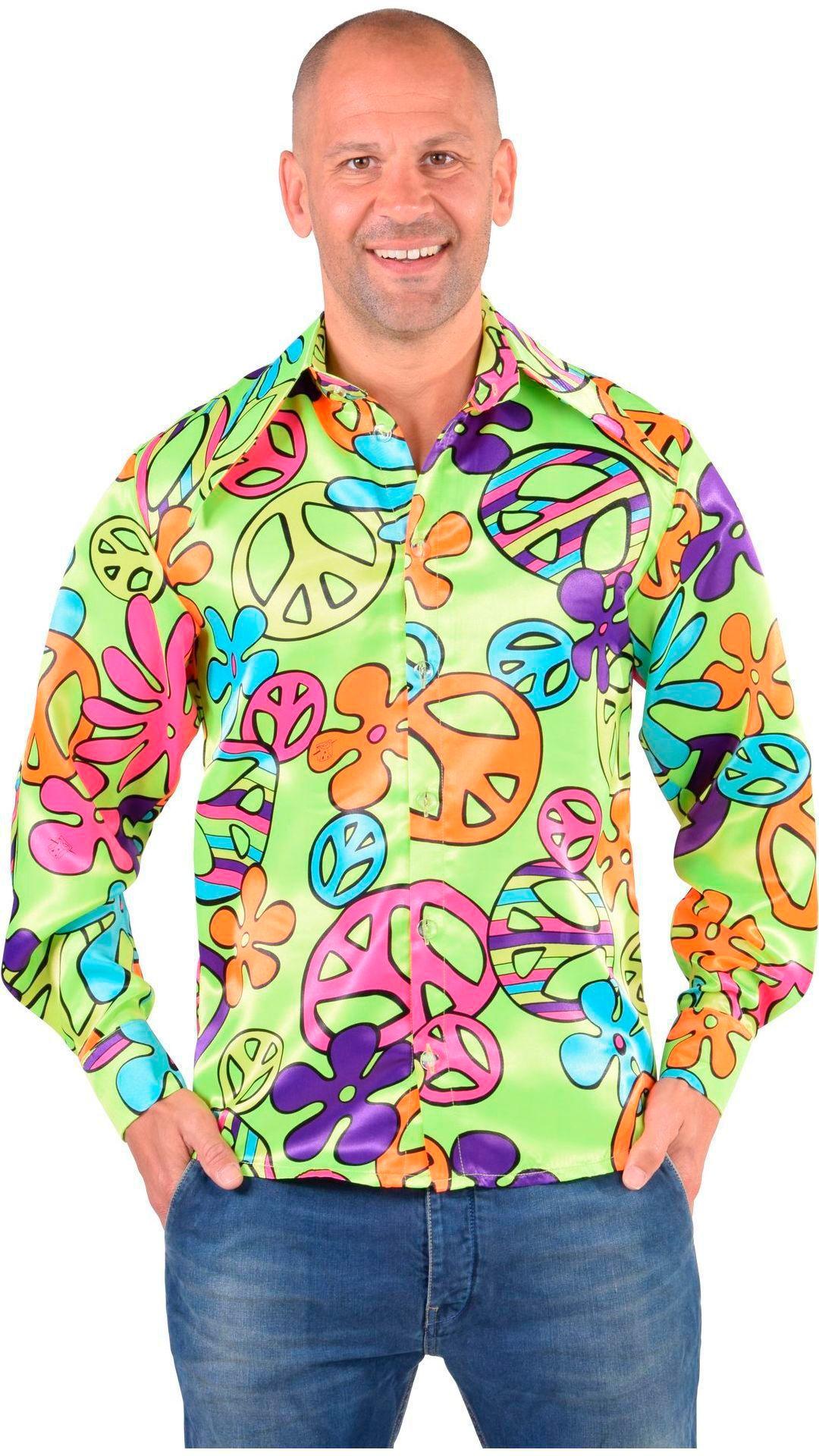 Hippie blouse groen mannen