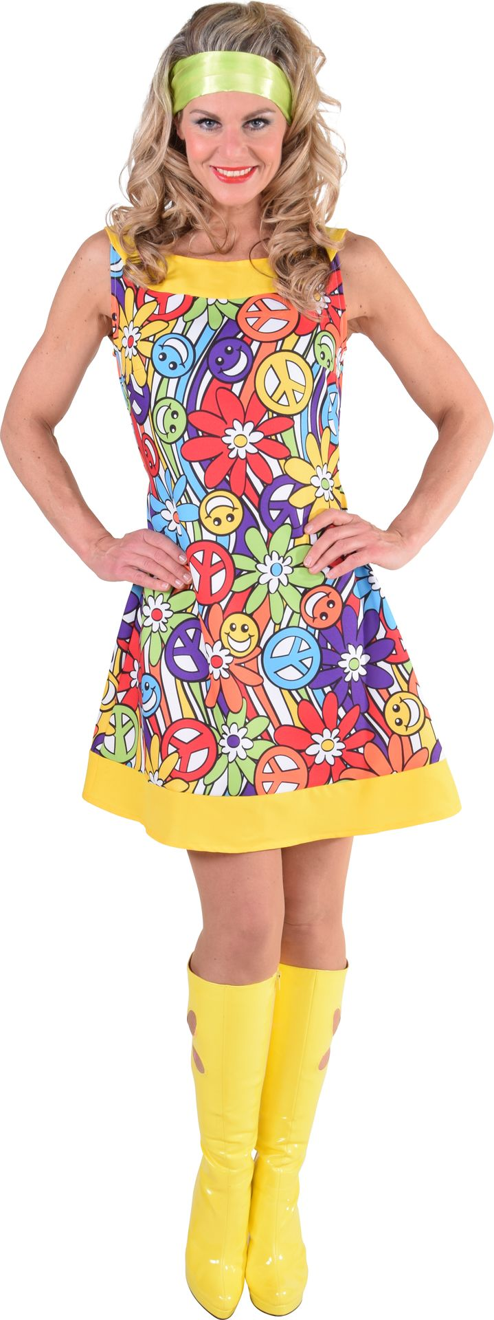 Hippie jurk smileys vrouwen