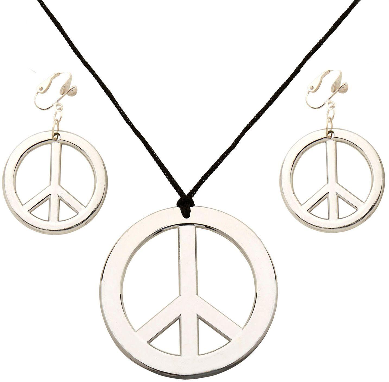 Hippie ketting en oorbellen