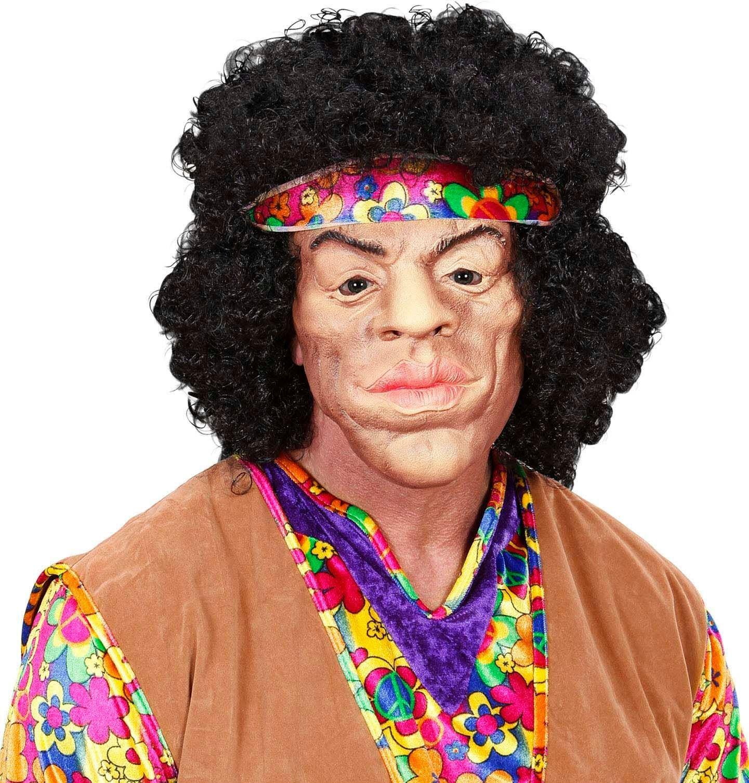 Hippie masker met pruik