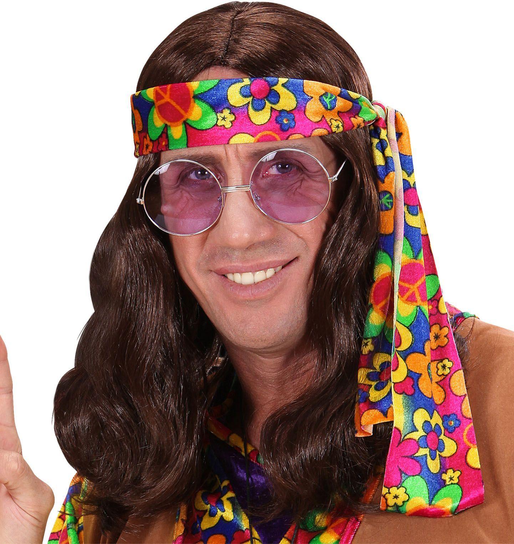 Hippie pruik bruin