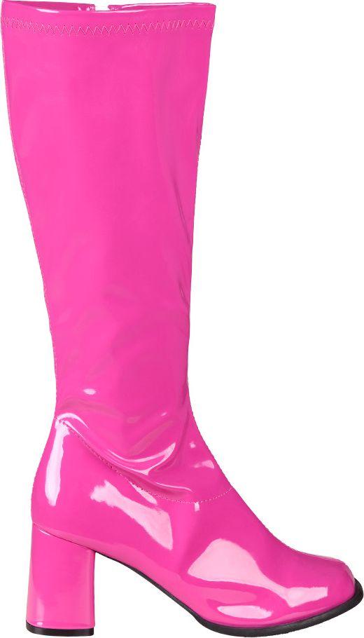 neon roze knee hoog laarzen
