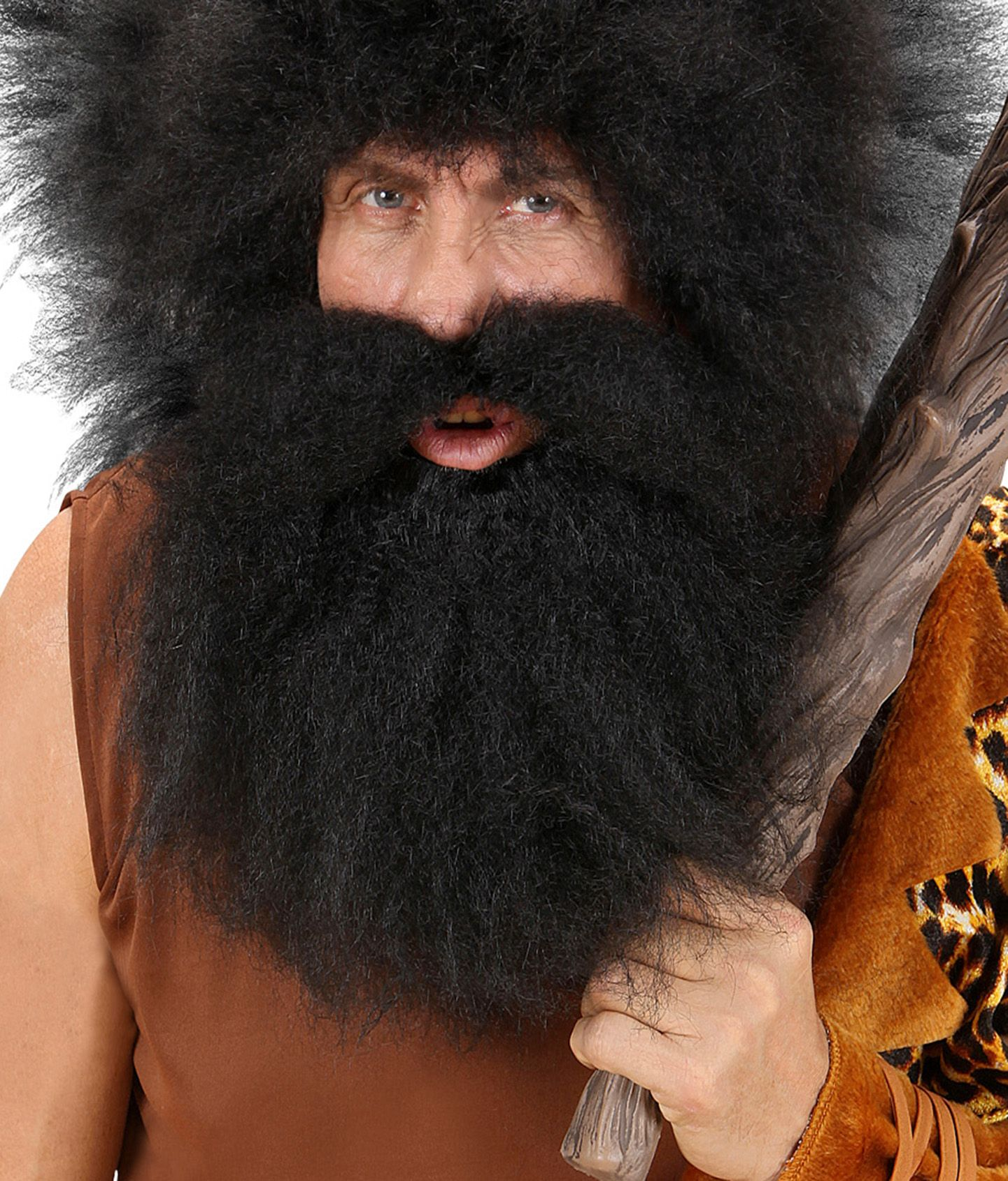 Holbewoner baard met snor