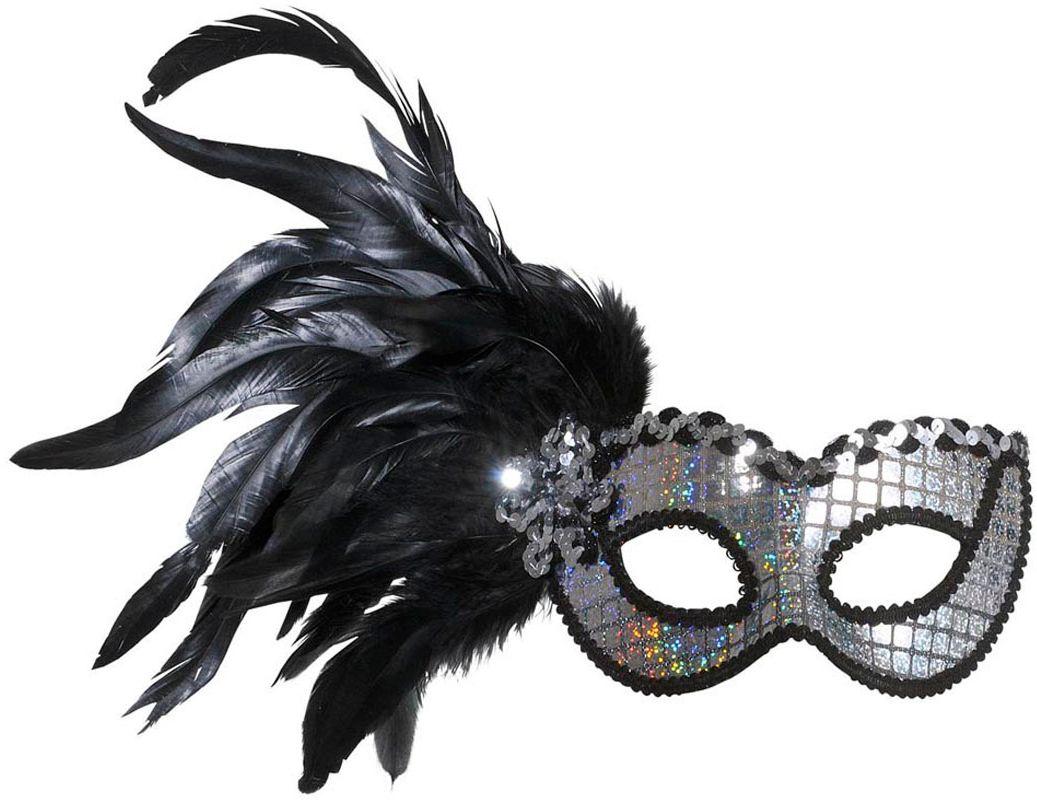Holografisch oogmasker met veren