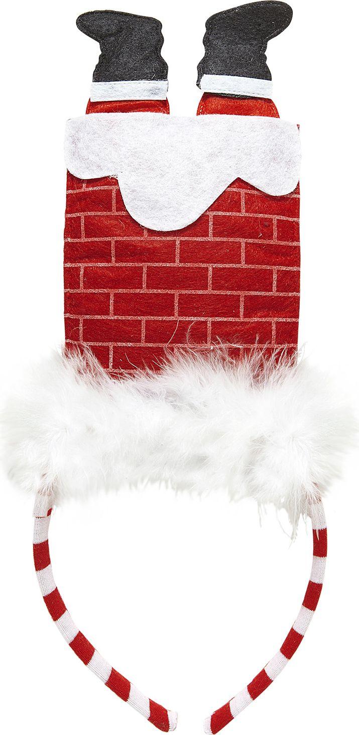 Hoofdband met kerstman in schoorsteen