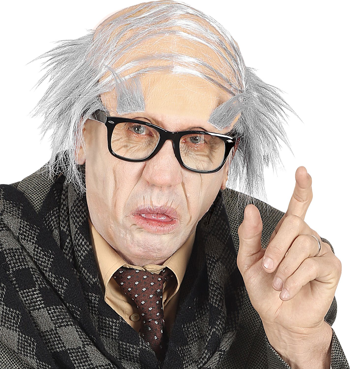 Hoofddeksel grijze haren opa