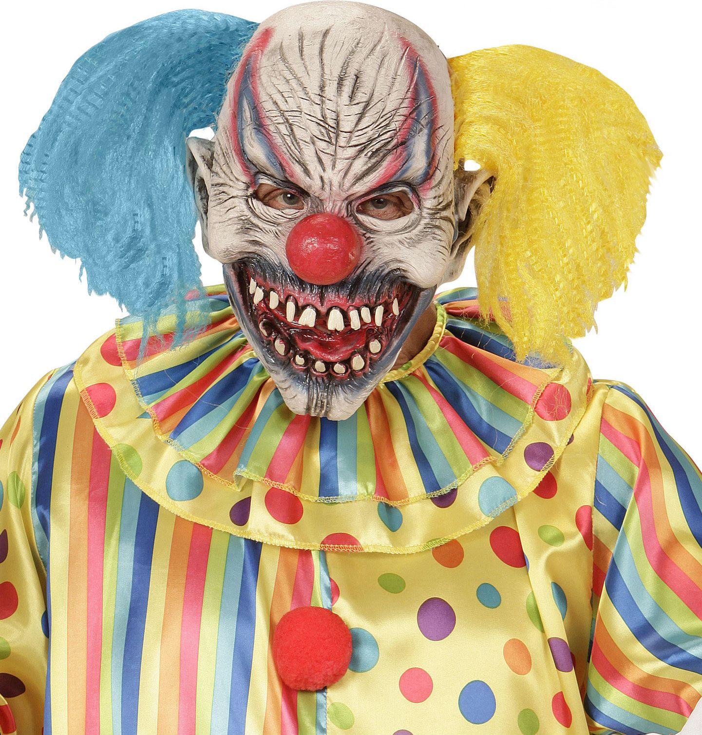Horror clown masker met staartjes