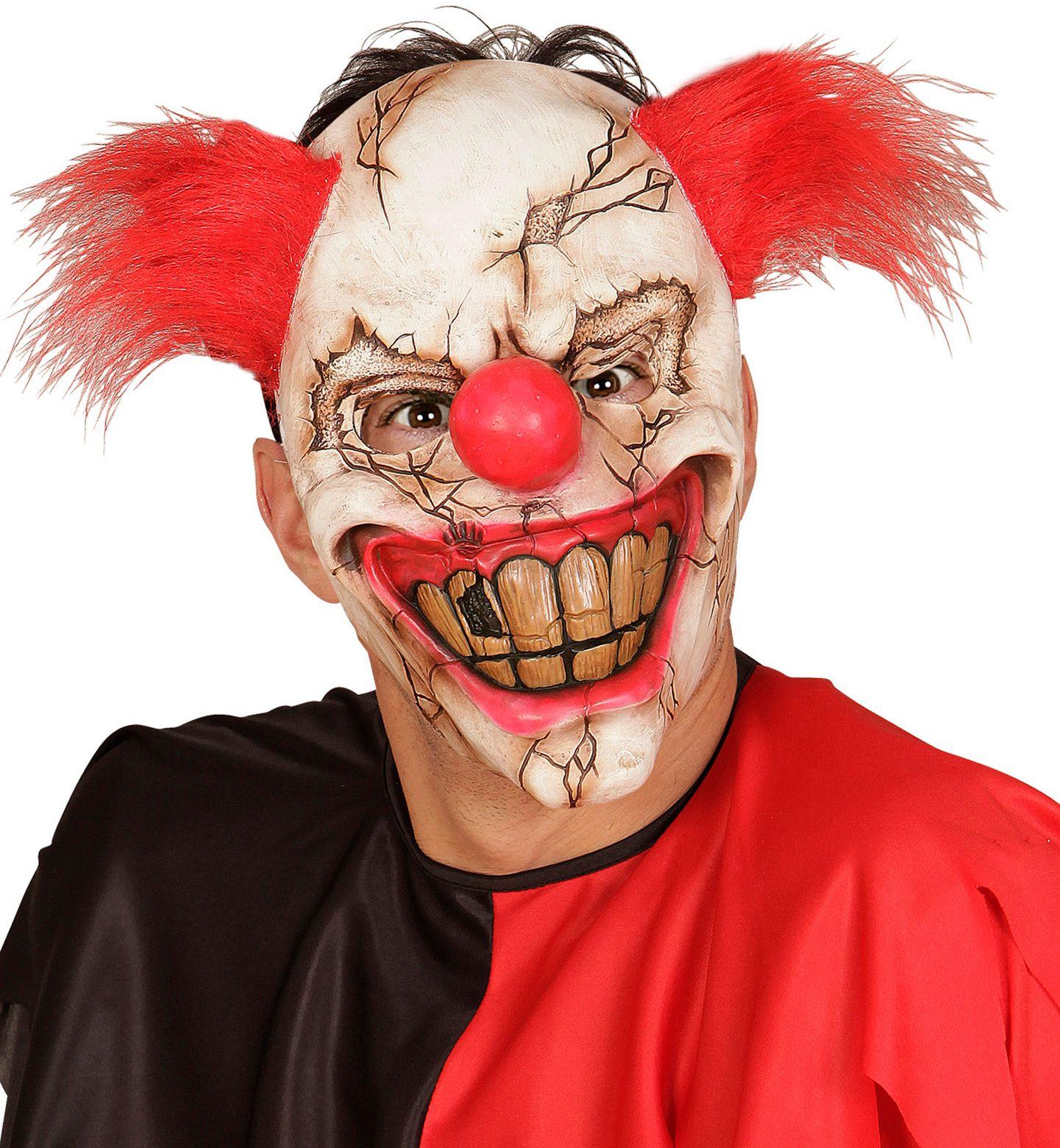 Horror clown met rood haar