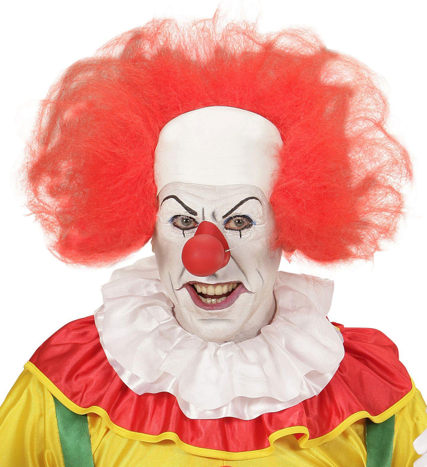Horror clown pruik