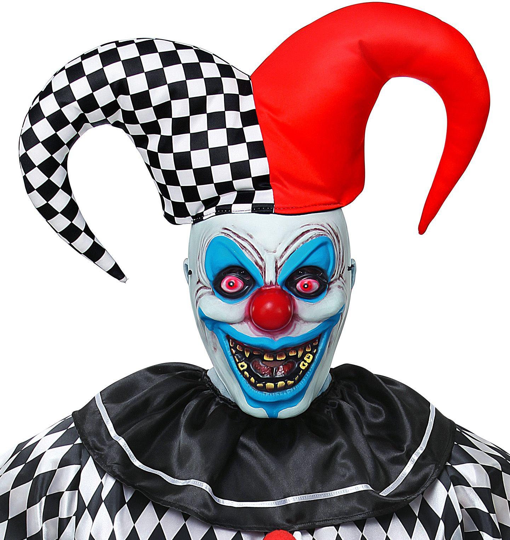 Horror masker met hoed nar mannen