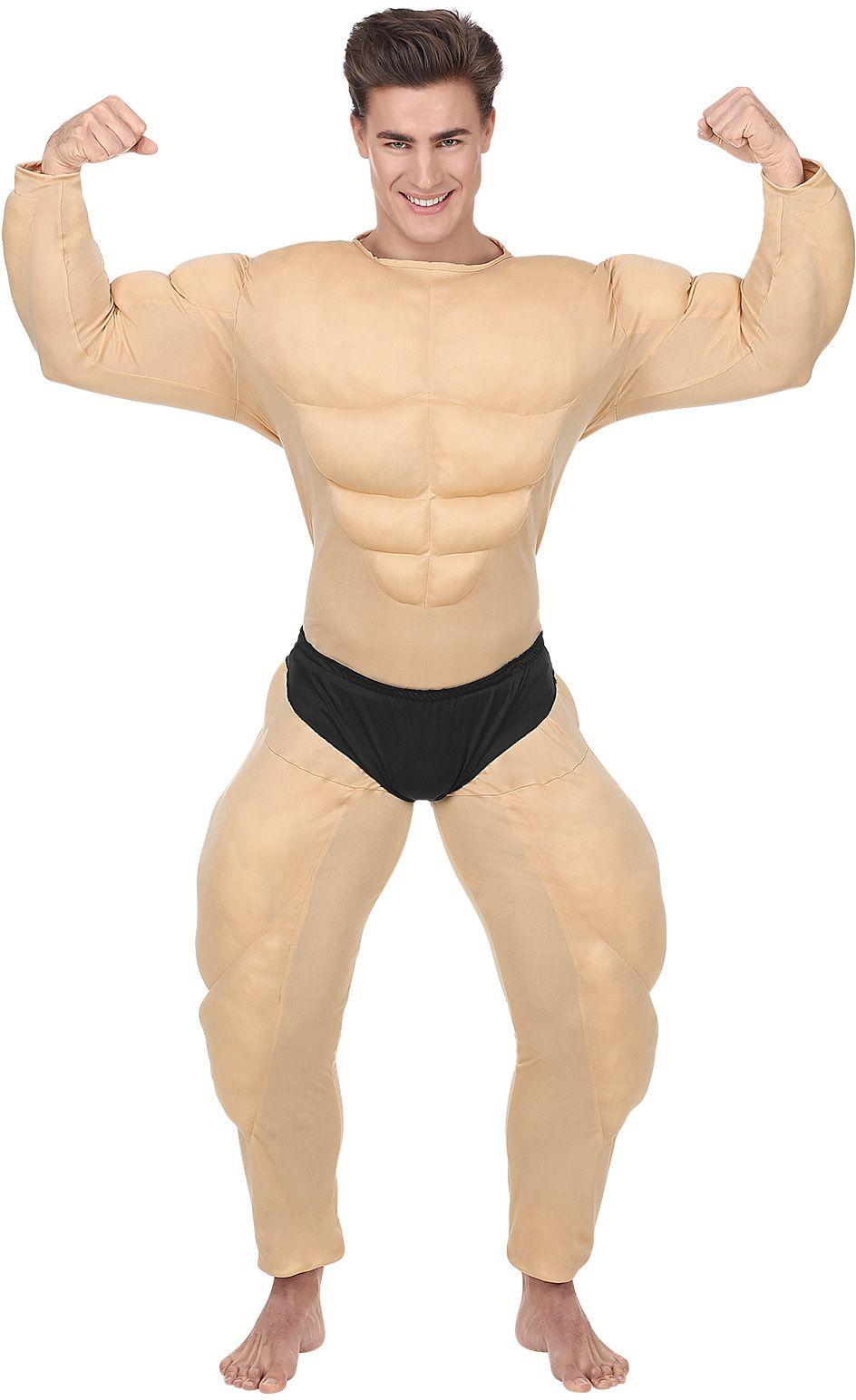 Huidskleurig bodybuilder pak