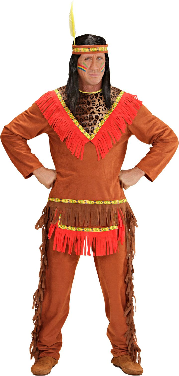 Indiaan kostuum heren