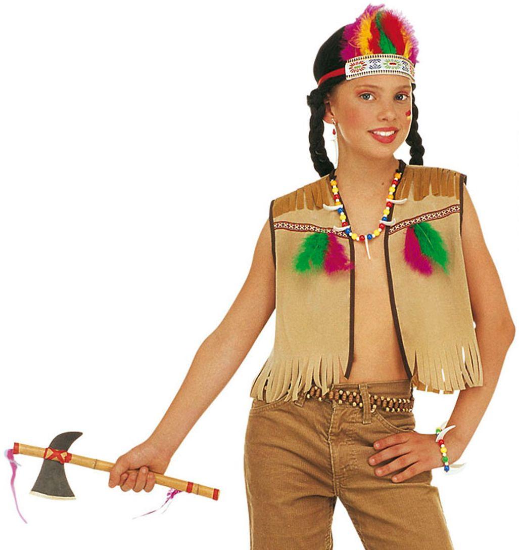 Indianen hoofdband en vest