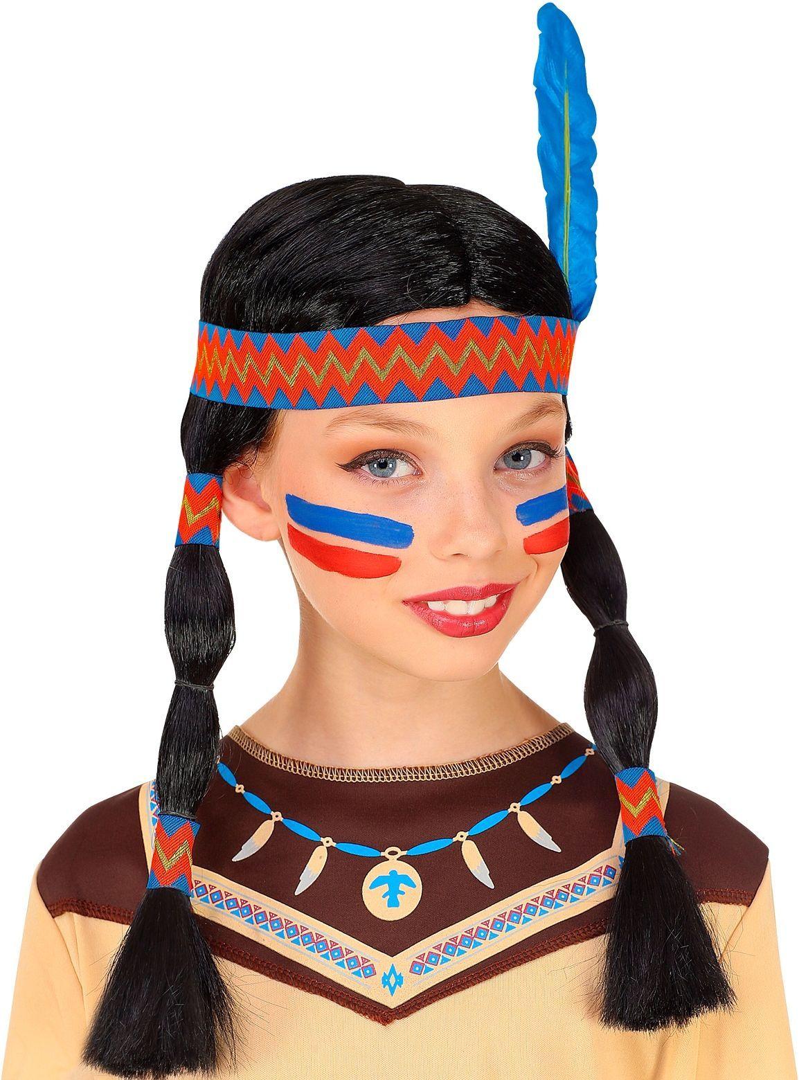Indianen pruik meisjes