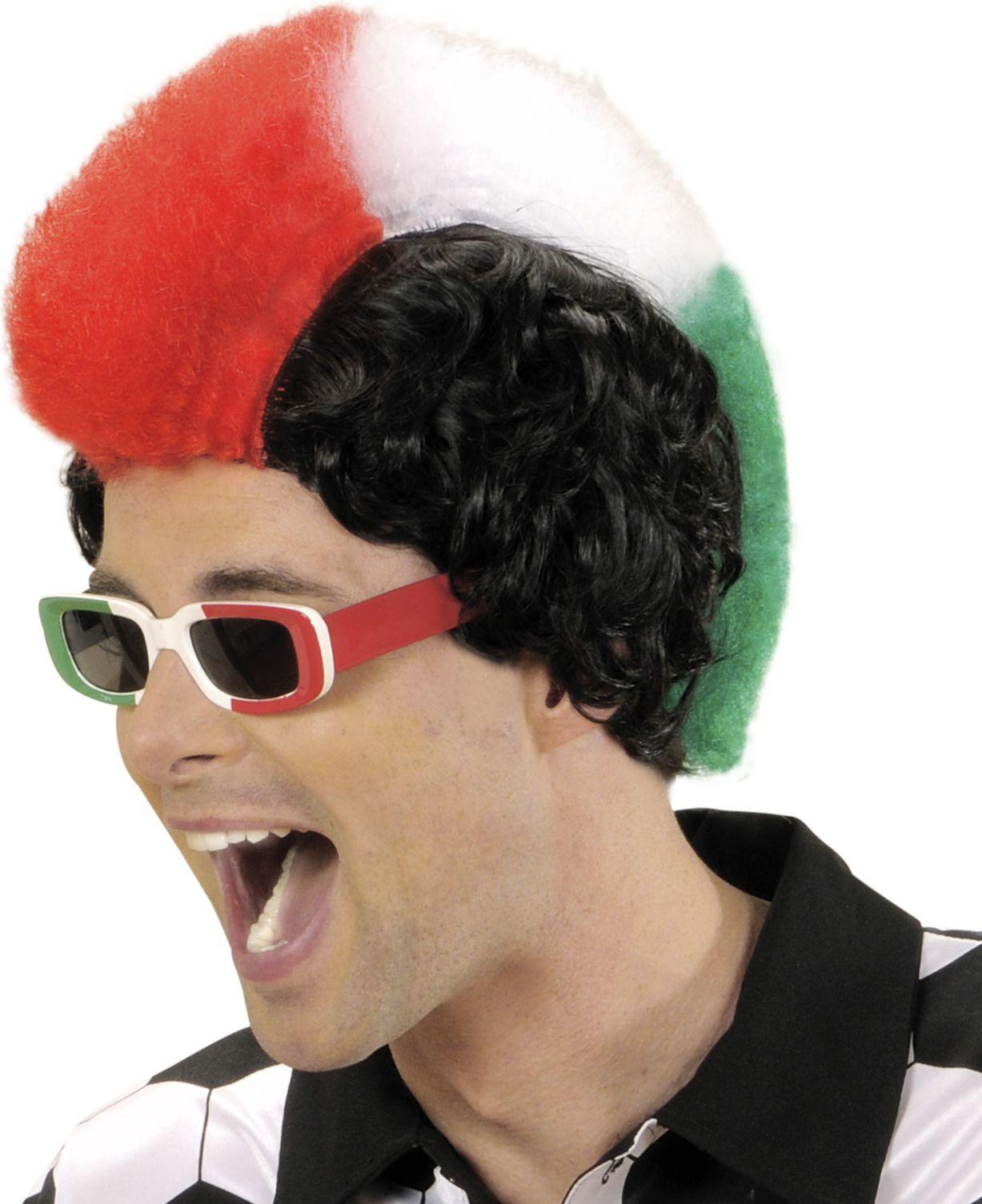 Italiaanse hanenkam pruik