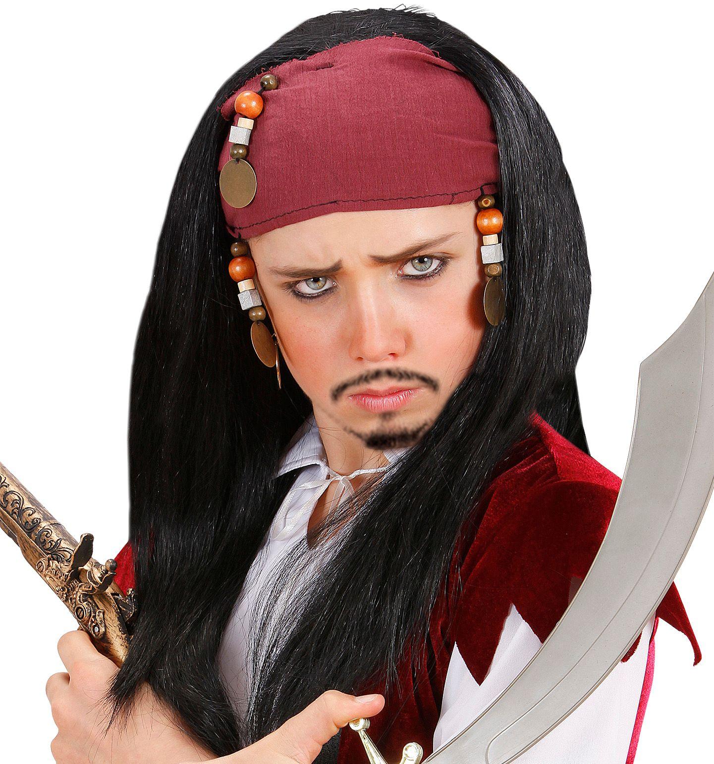 Jack Sparrow pruik kind