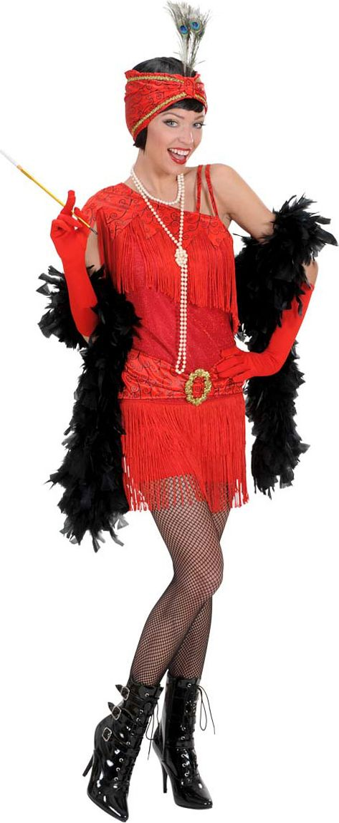 Jaren 20 jurk rood