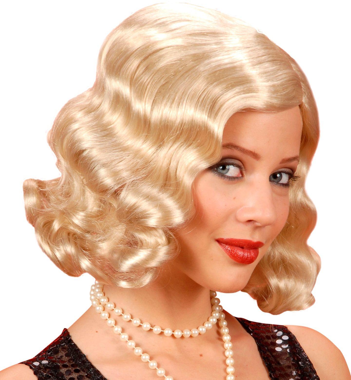 Jaren 20 pruik blond