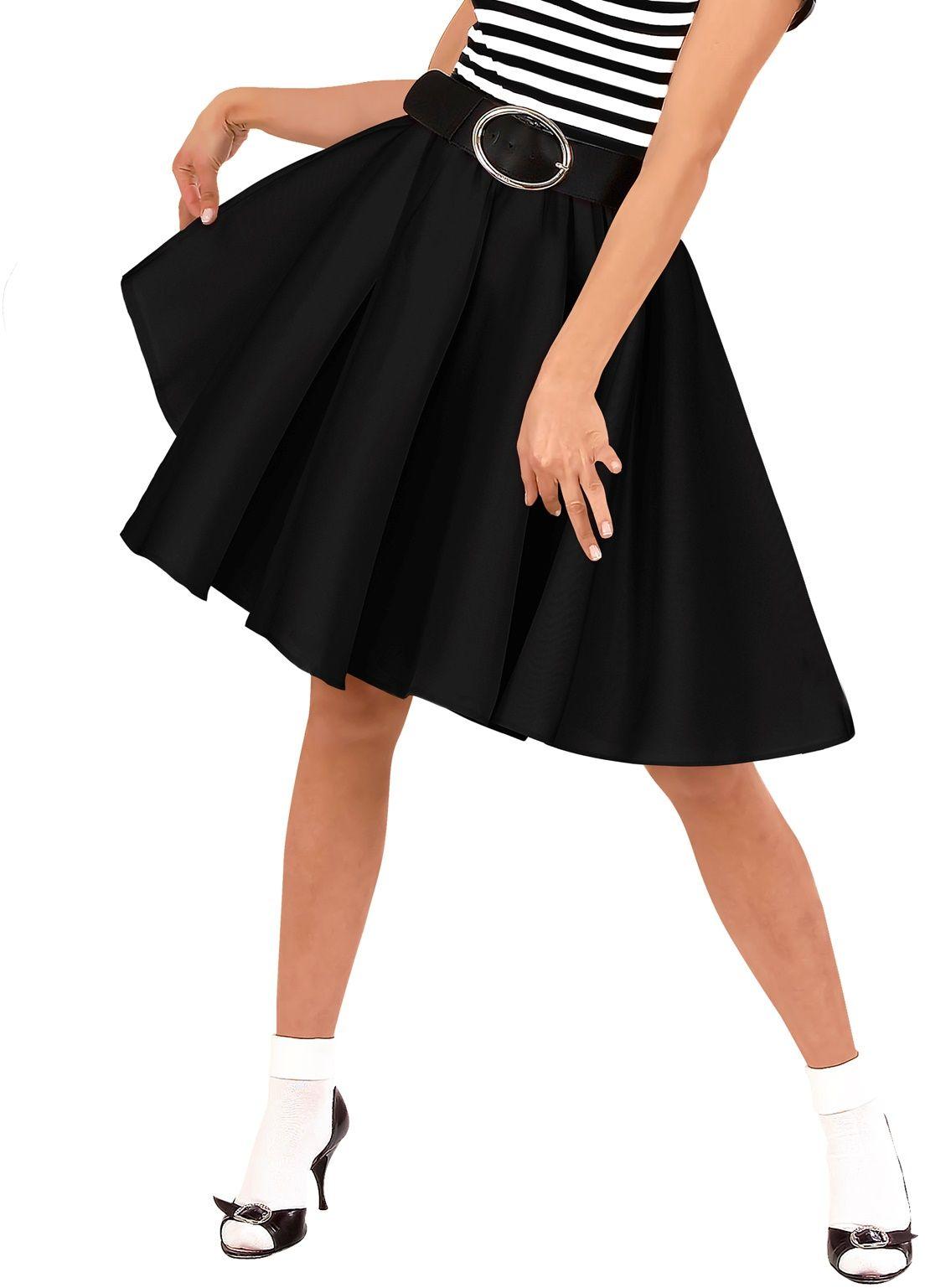Jaren 50 rok zwart