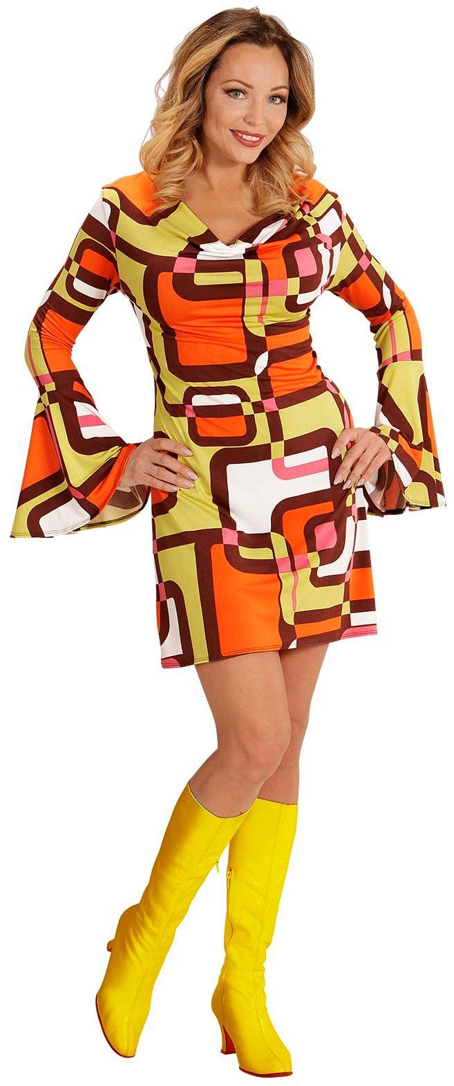 Jaren 70 disco jurk