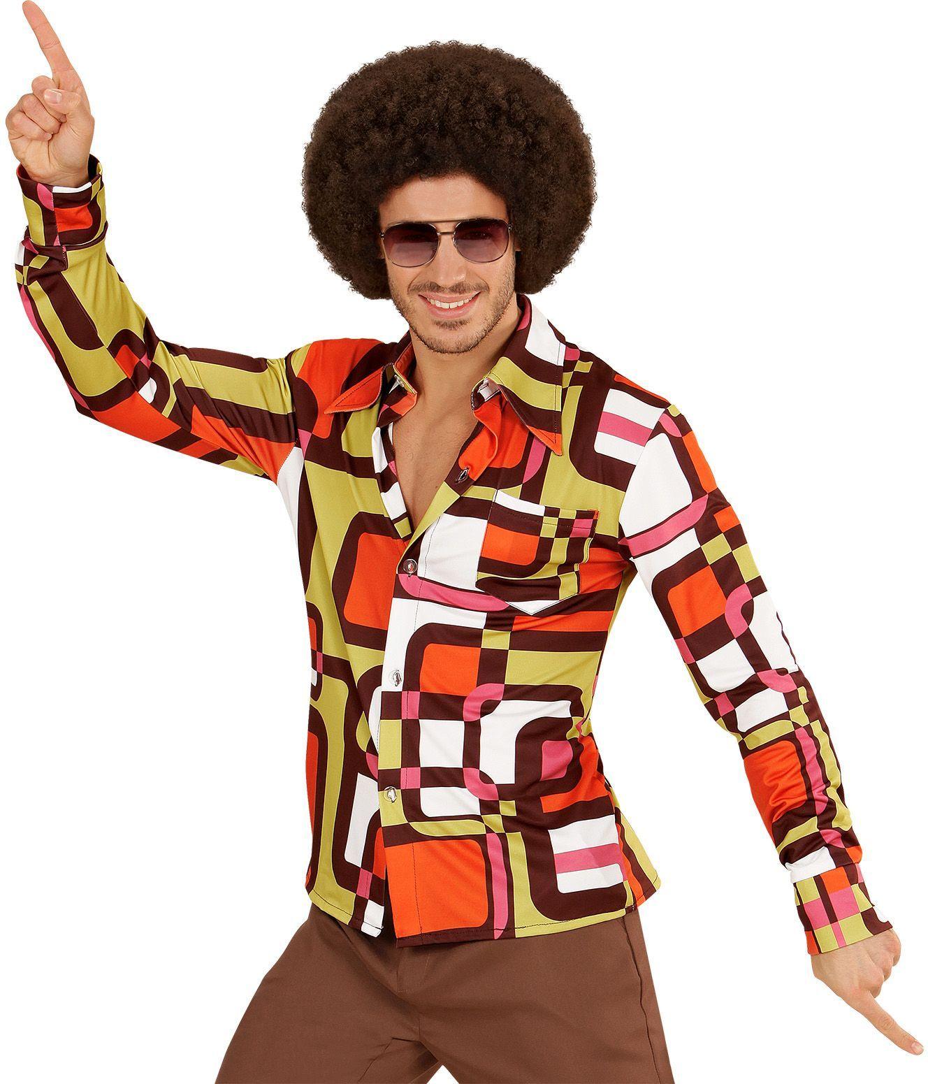 Jaren 70 disco shirt