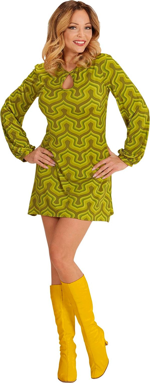 Jaren 70 jurk groen