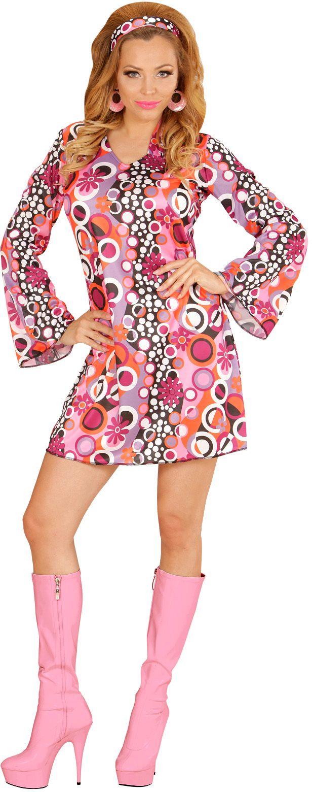 Jaren 70 kostuum paars/roze