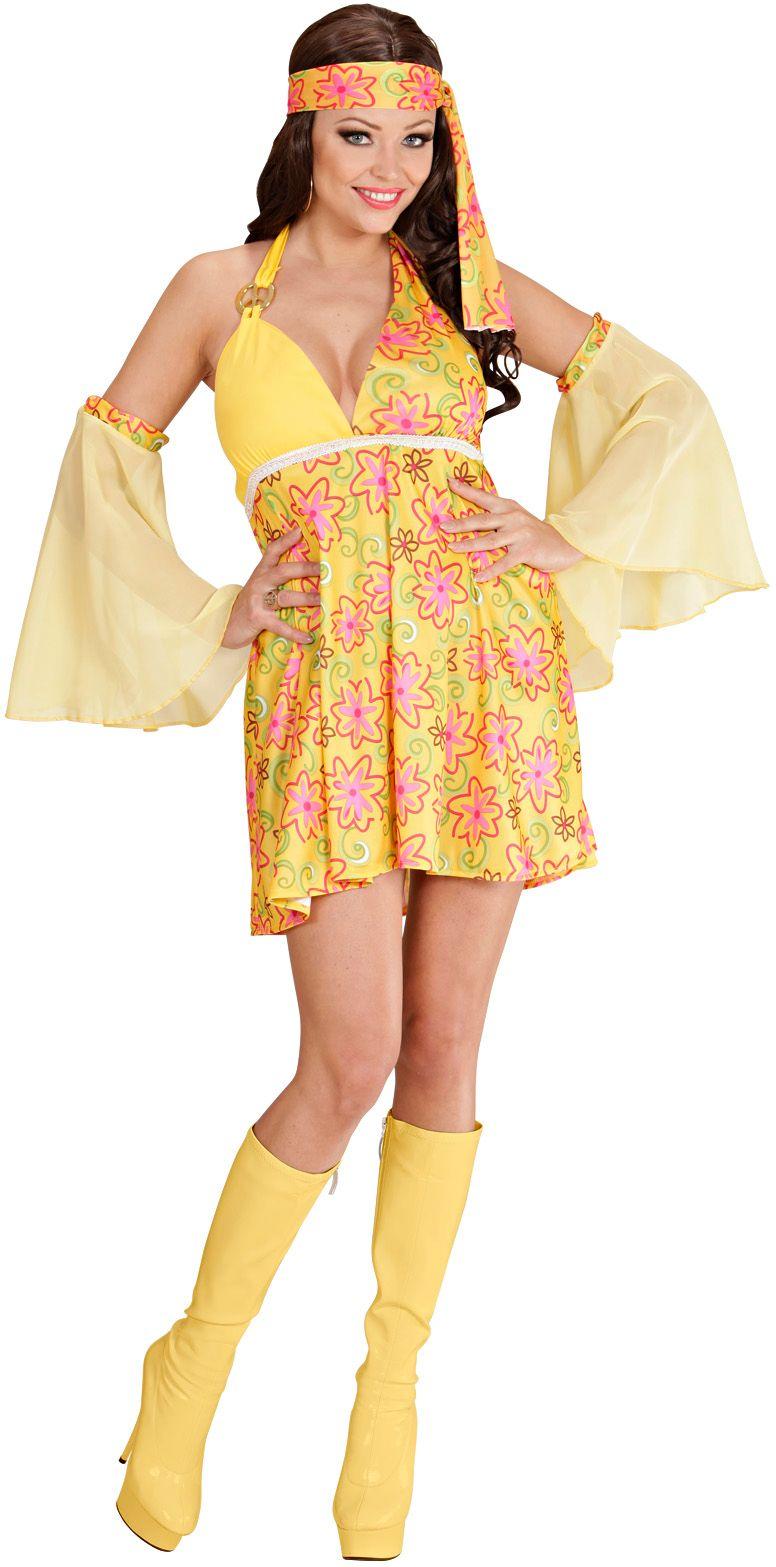 Jaren 70 mode geel