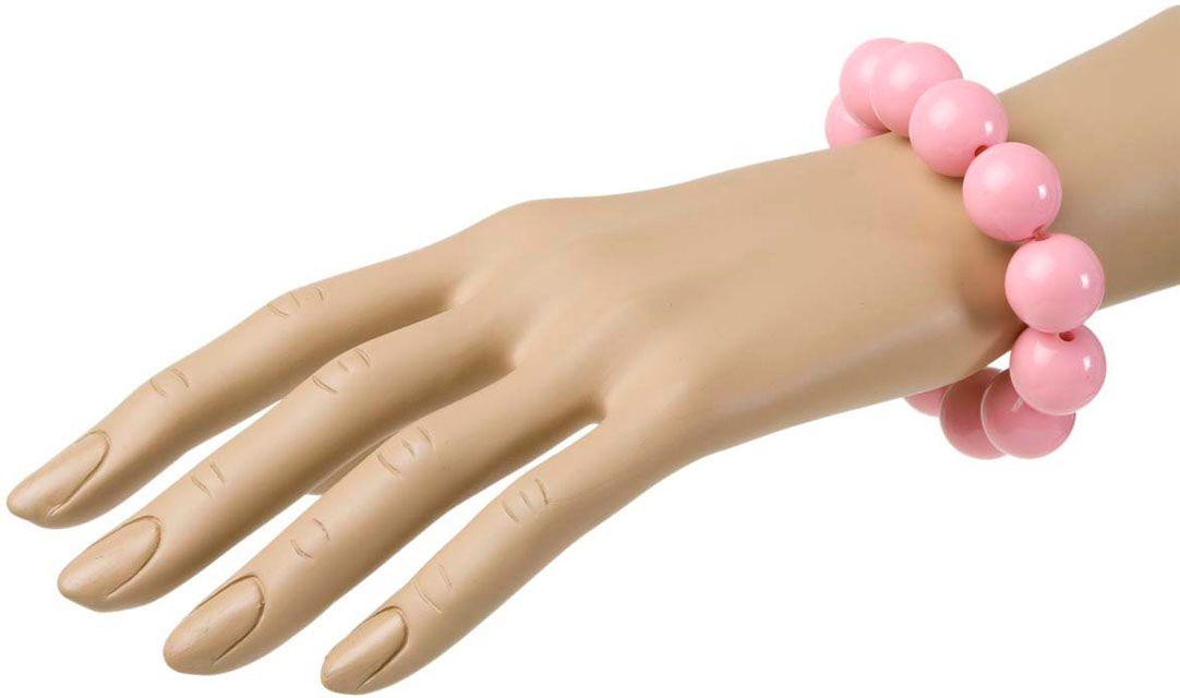 Jaren 70 parel armband roze