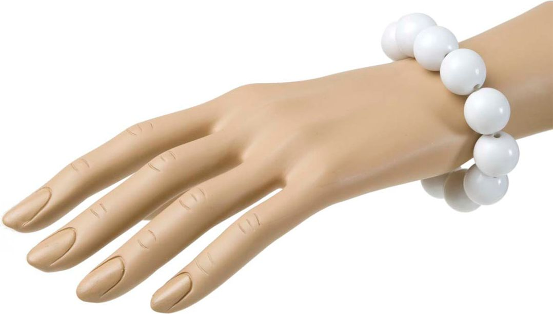 Jaren 70 parel armband wit