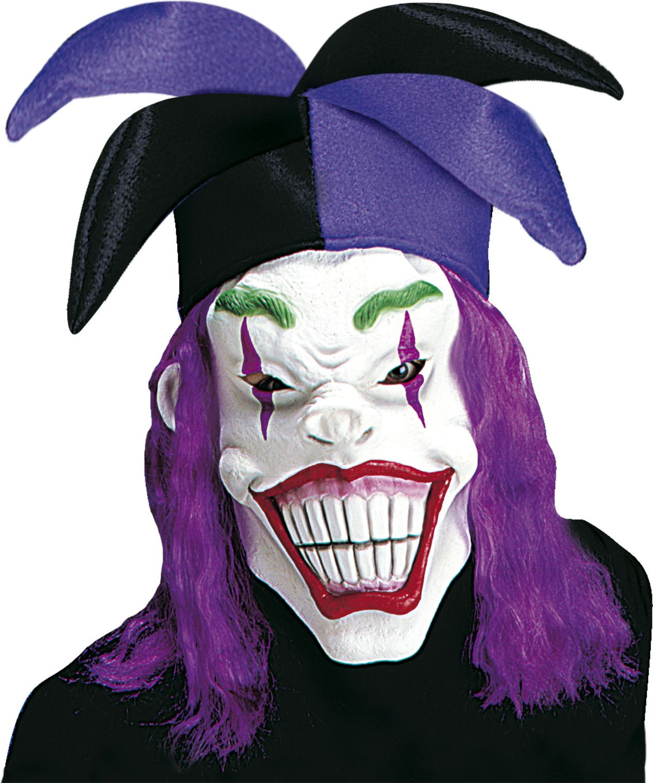 Joker masker met hoed en pruik