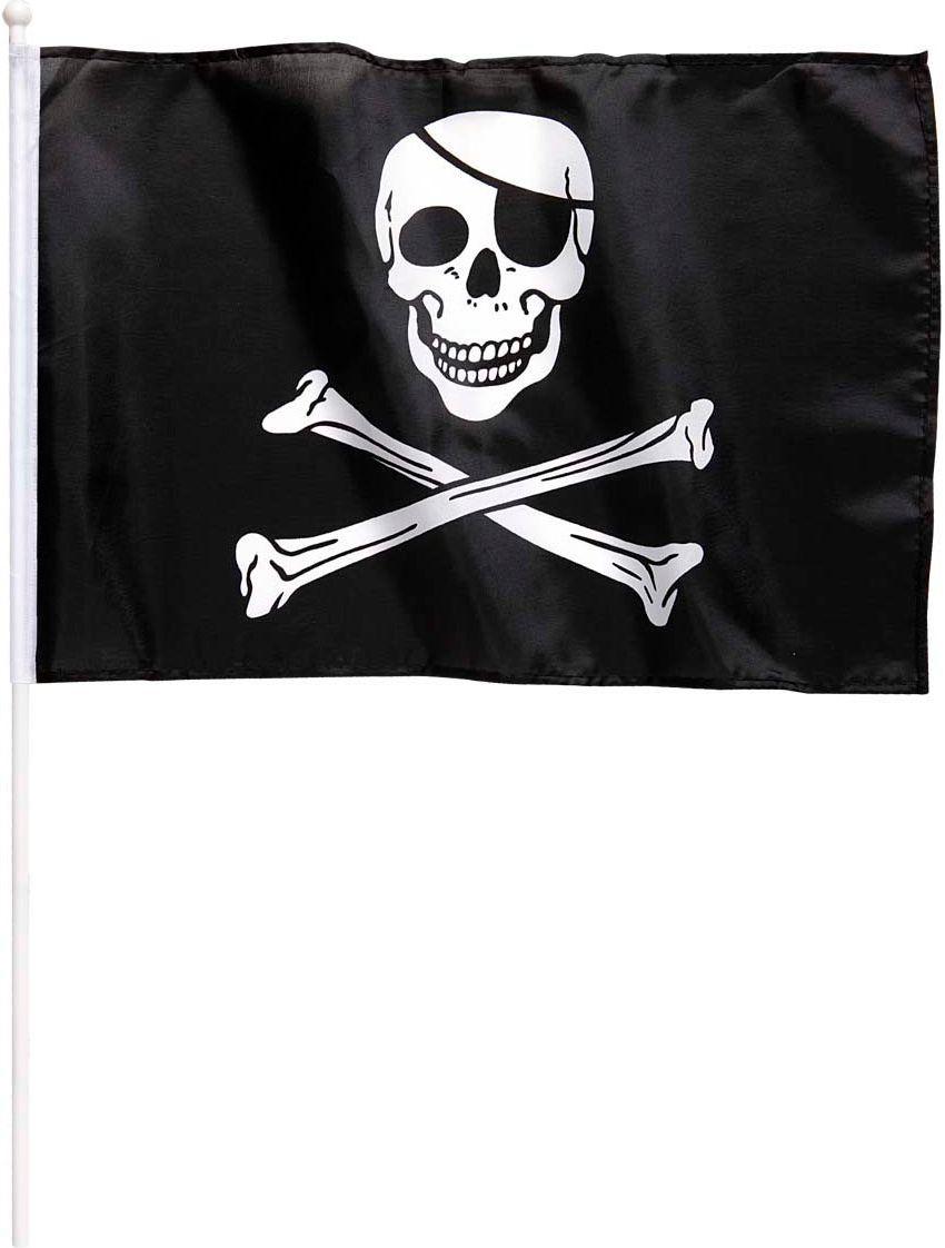 Jolly Roger vlag met stok