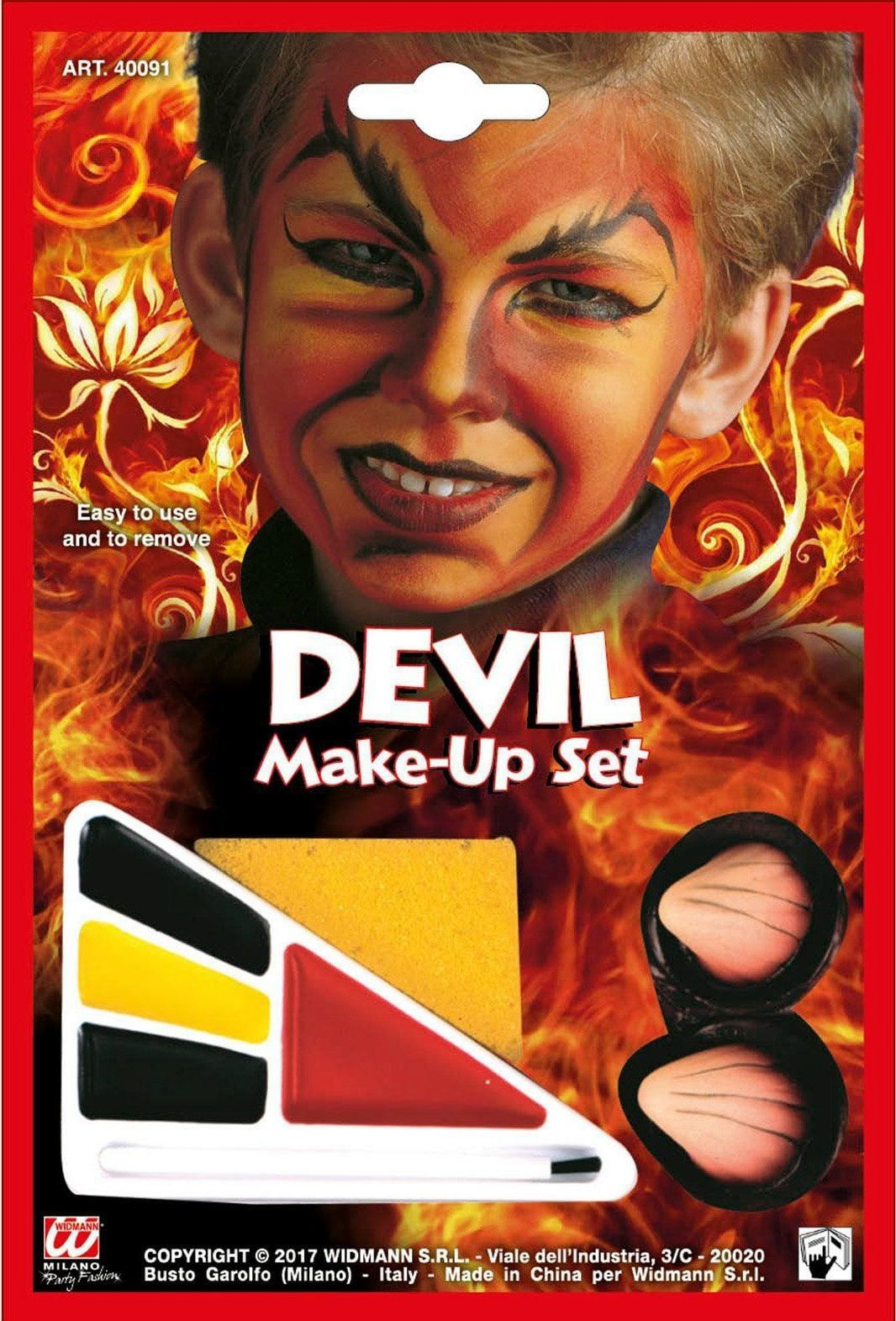 Jongens duivel make-up set
