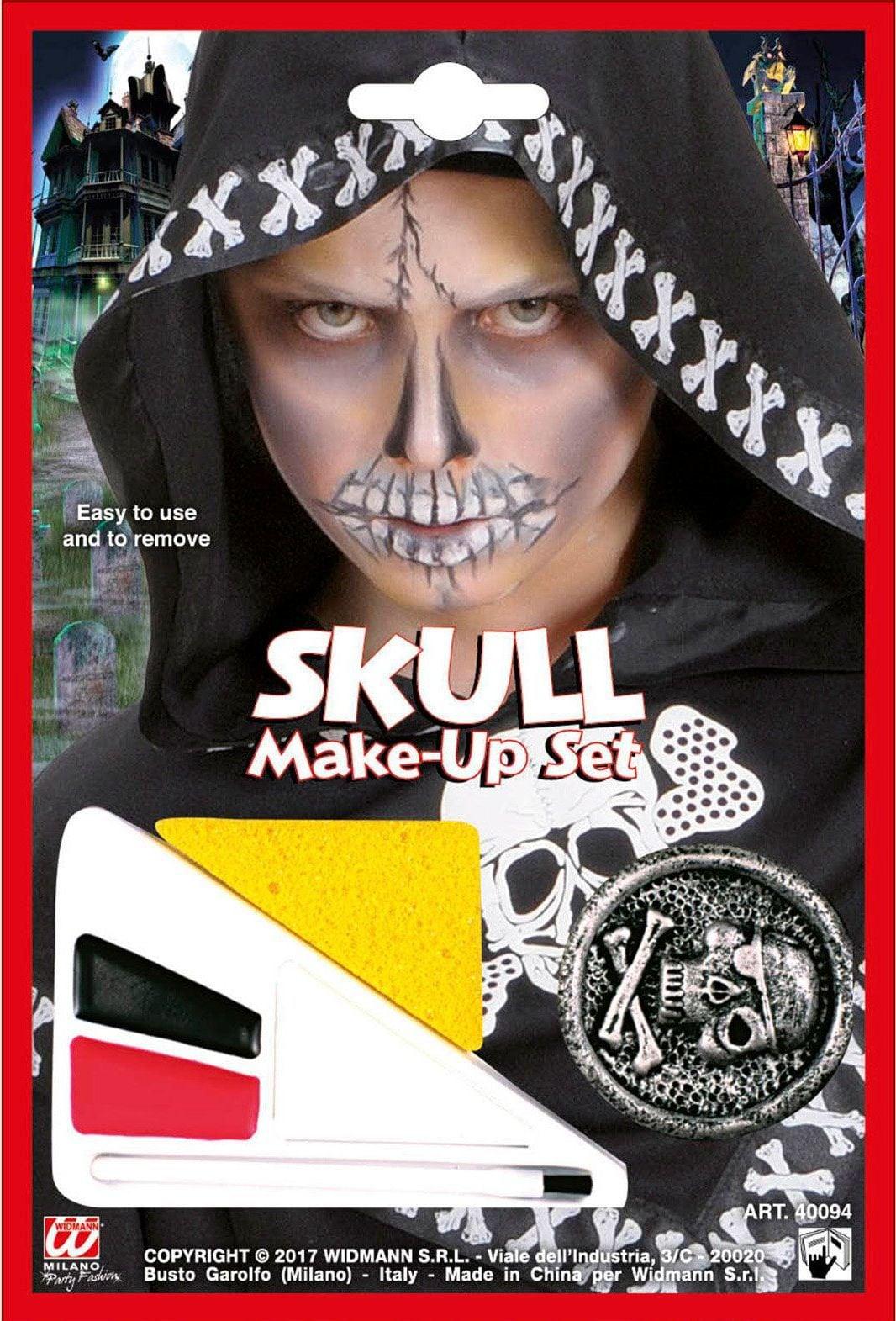 Jongens schedel make-up set
