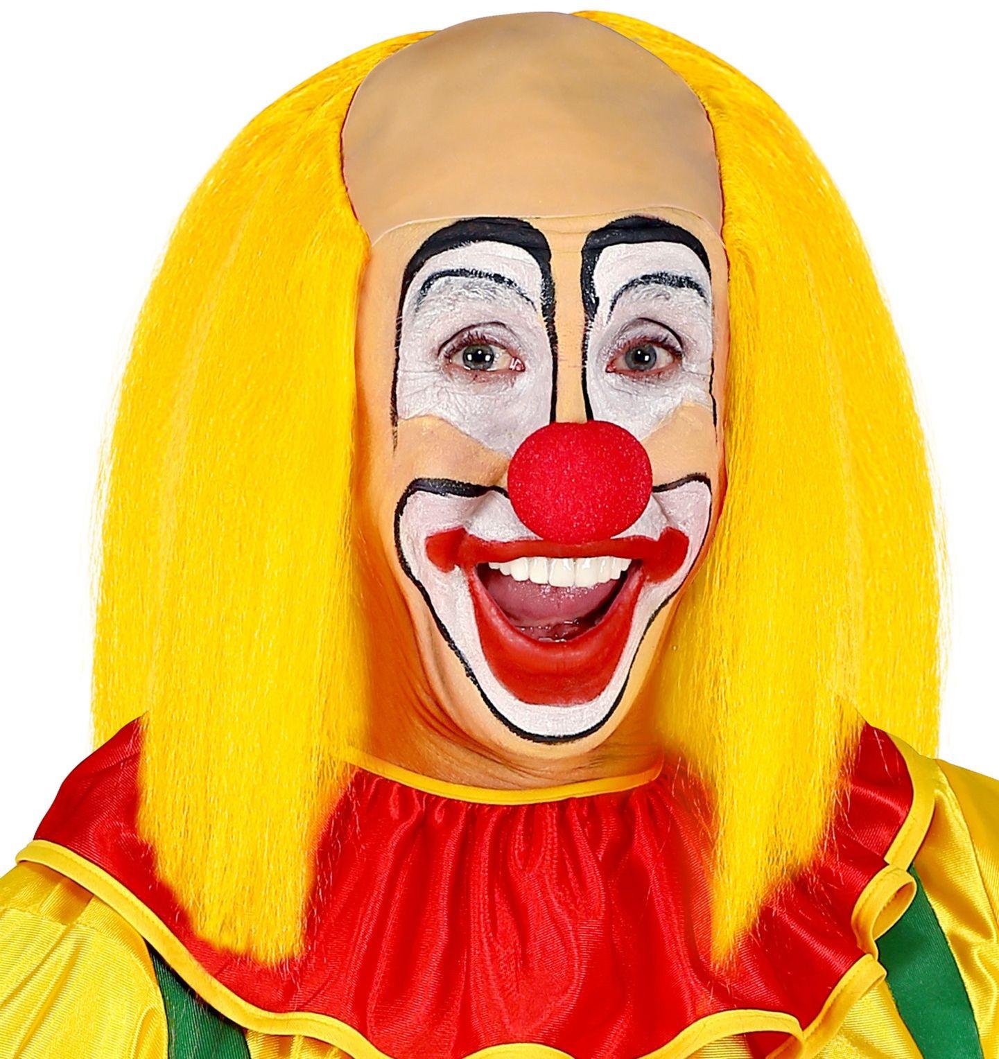 Kalende gele clownspruik