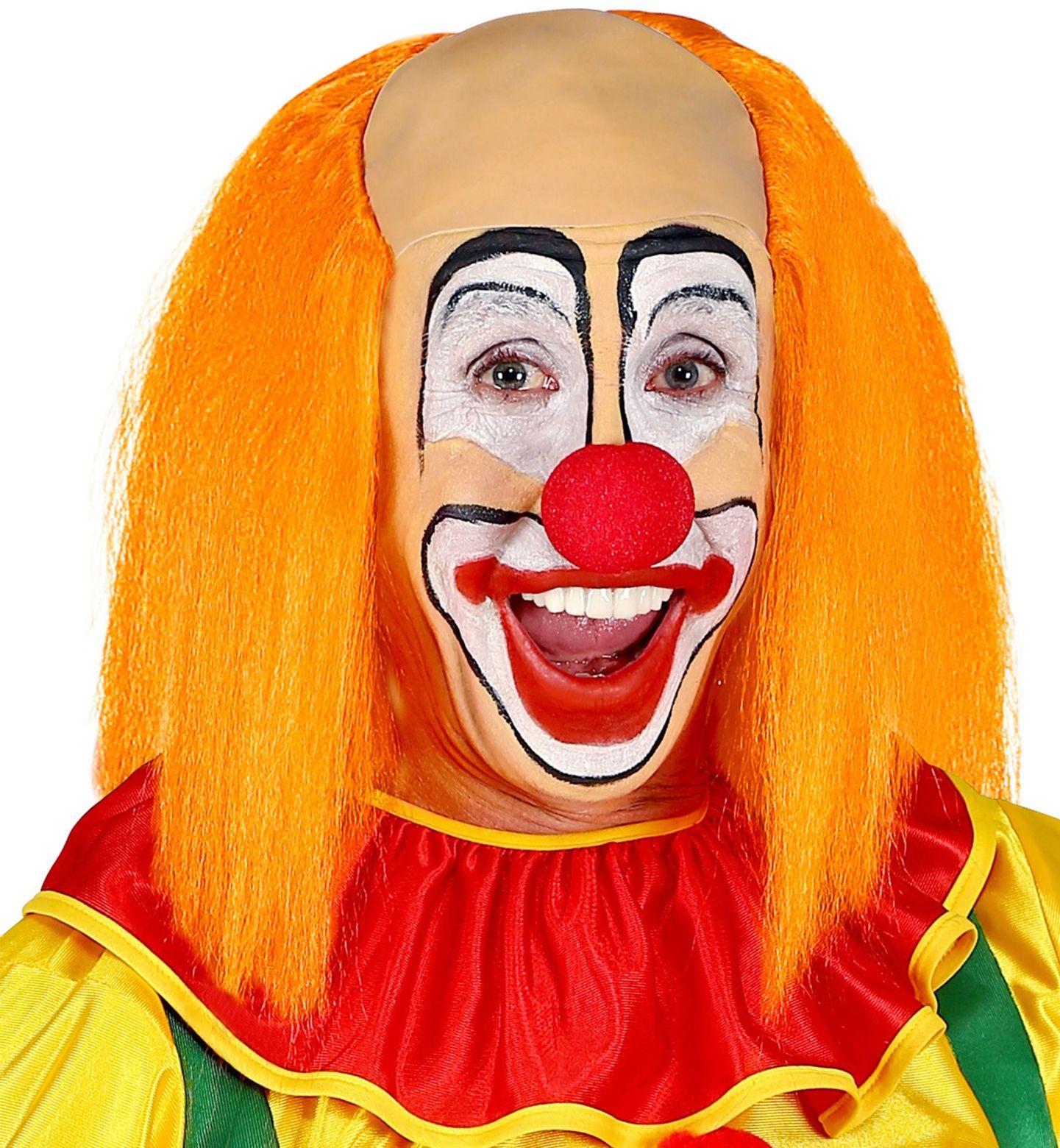 Kalende oranje clownspruik