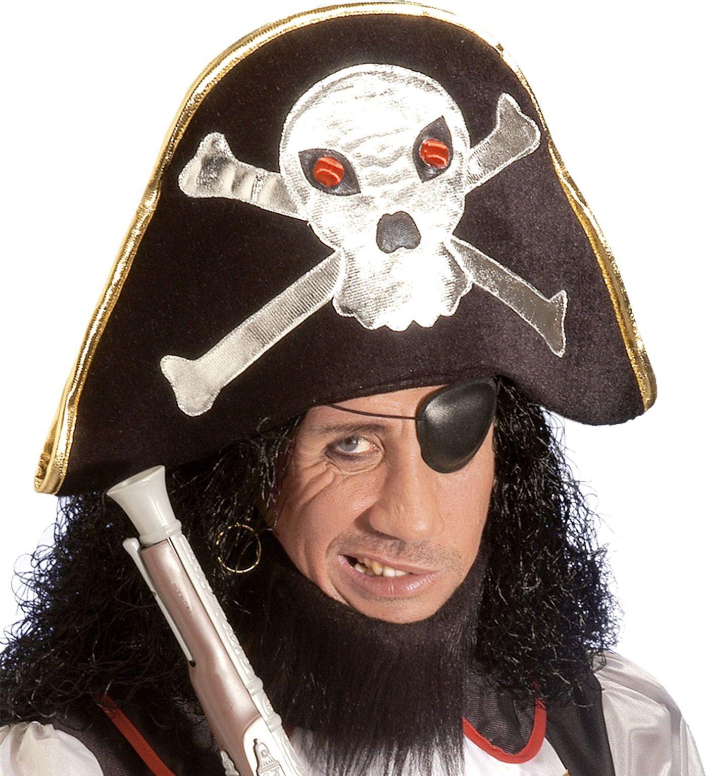 Kapiteinshoed met schedel
