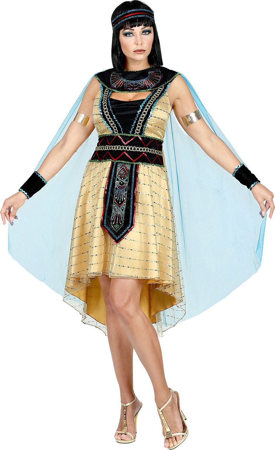 Keizerin Egypte gouden jurk