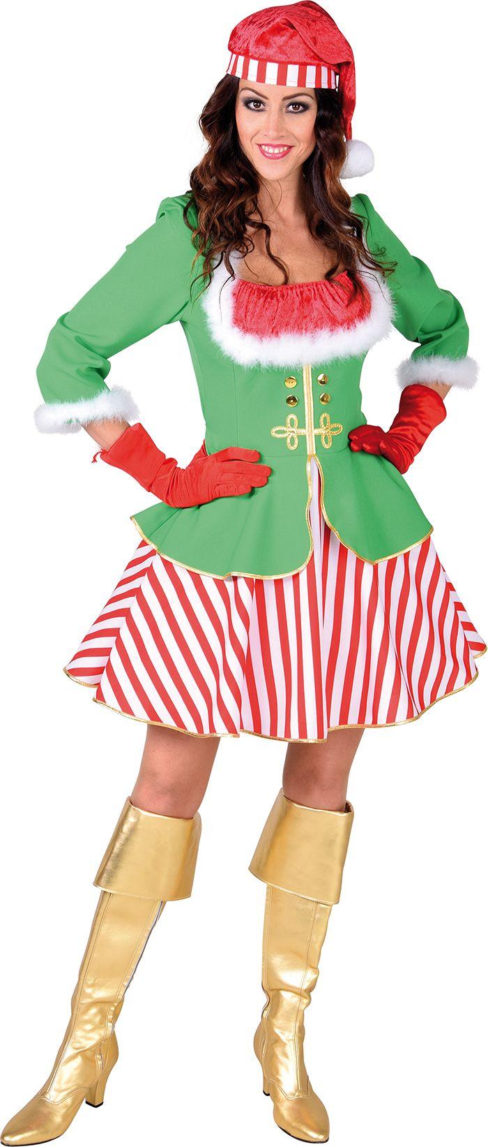 Kerst elf jurkje vrouwen